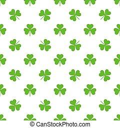 Seamless Saint Patricks day clover background.