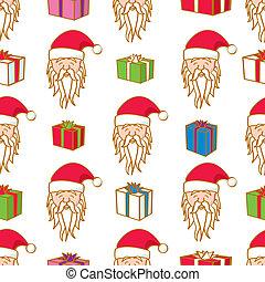 Seamless Santa and Gifts