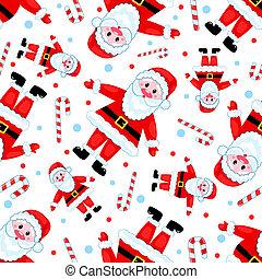 Seamless santas pattern.
