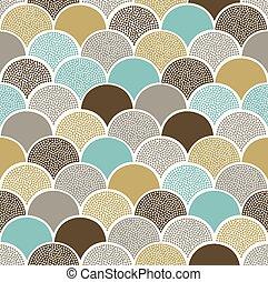 seamless scallop circle pattern