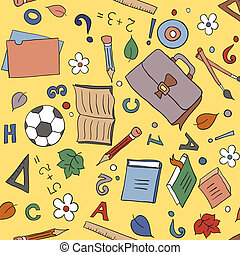 Seamless school background - Seamless pattern with school...