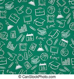 seamless school stuff background