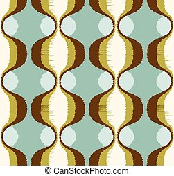 seamless scribble ornament pattern - seamless abstract retro...