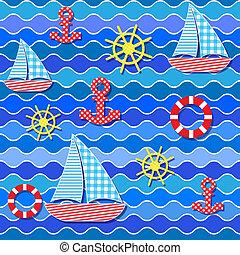 seamless sea pattern