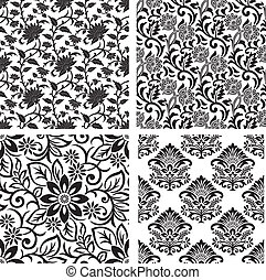 Seamless set of floral background