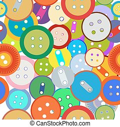 Seamless sewing buttons