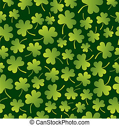 Seamless Shamrock Pattern - A seamless pattern of shamrocks...