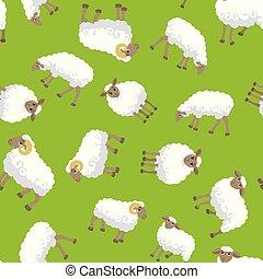 seamless, sheep, próbka