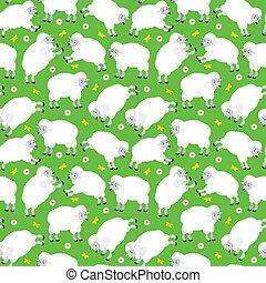 Seamless sheeps pattern