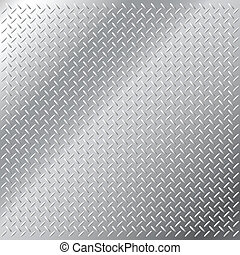 Seamless shiny metal hatch - Vector illustration of...