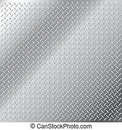 Seamless shiny metal hatch - Vector illustration of...