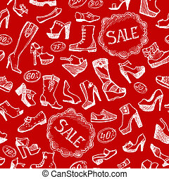 Seamless shoes background
