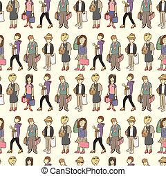 seamless shopping pattern