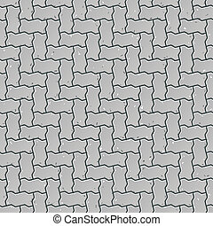 Seamless sidewalk pattern - Vector illustration of a...