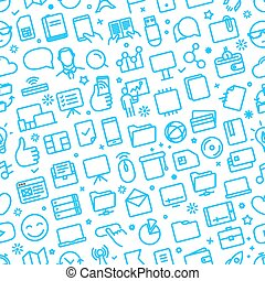 seamless, sieć, różny, próbka, ikony