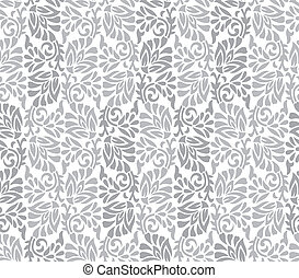 Seamless silver floral background