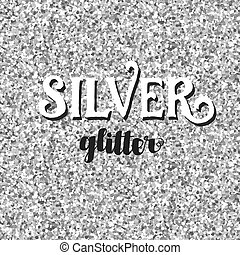 Seamless silver glitter background