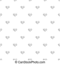 SEAMLESS SILVER GLITTER HEART ON WHITE BACKGROUND