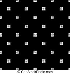 seamless silver glitter square pattern with black background