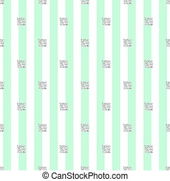 seamless silver glitter square pattern with green stripe background