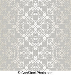 Seamless silver small floral elemen
