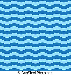 Seamless simple blue wave pattern