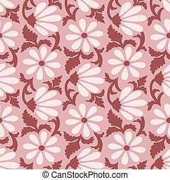 Seamless simple floral pattern design