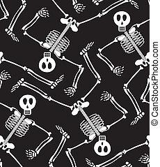 Seamless skeleton pattern