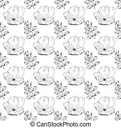 Seamless sketch briar template background. Vector ...