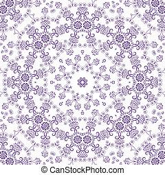 seamless, skissera, blom- mönstra