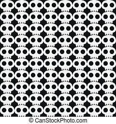 Seamless skull background