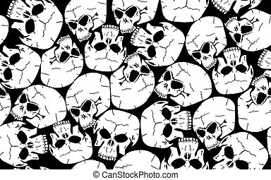 Seamless skull camouflage pattern