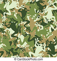 Seamless skull camouflage pattern