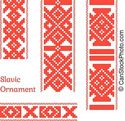 Seamless slavic pattern