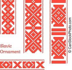Seamless slavic pattern