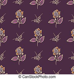 Seamless small vintage rose flower pattern