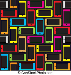 Seamless Smartphone Pattern - Seamless Vector Editable...