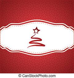 seamless, sneeuwvlok, achtergrond, kerstmis, etiket
