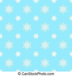 Seamless snowflake Christmas background