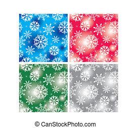 seamless snowflakes background