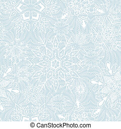 Seamless snowflakes background for