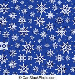 Seamless Snowflakes Background Pattern