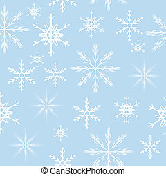 seamless snowflakes background.  Vector illustration
