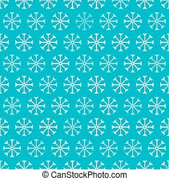 Seamless Snowflakes Blue and White Retro Vector Background