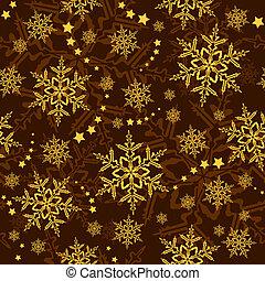 seamless, snowflakes, e, estrelas, inverno, papel parede