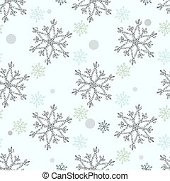 Seamless Snowflakes pattern Background for Christmas and New year. Celebration. Vector Illustration