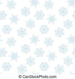 Seamless snowflakes