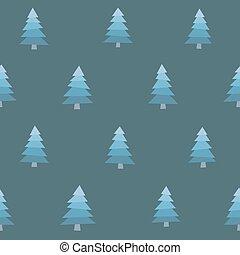 Seamless Snowy Trees