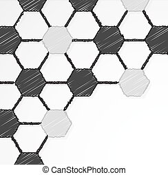 Seamless soccer ball texture hand drawn ,scribble effect