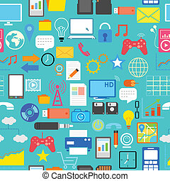 seamless, sociale, medier, mønster